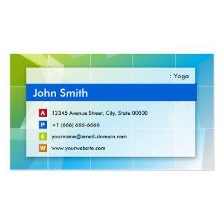 Yoga - multiusos moderno tarjetas de visita