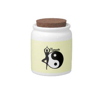 Yoga Namaste Candy Jar