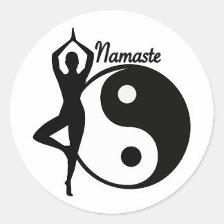 Yoga Namaste Classic Round Sticker