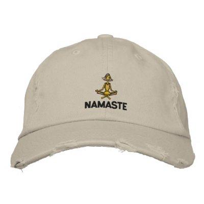 Yoga Namaste Embroidered Baseball Cap