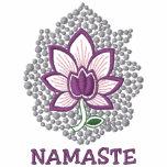 Yoga Namaste Embroidered Ladies Zip Hoodie