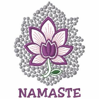 Yoga Namaste Embroidered Ladies Zip Hoodie Embroidered Hoodie