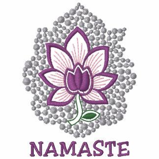 Yoga Namaste Embroidered Women's Long Sleeve Shirt