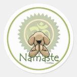 Yoga - Namaste Etiqueta Redonda
