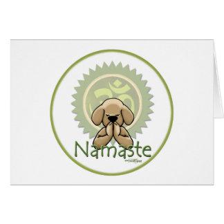Yoga - Namaste Tarjeta De Felicitación