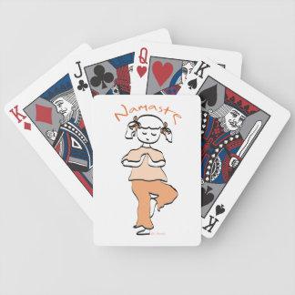 Yoga Namaste Young Girl Bicycle Playing Cards