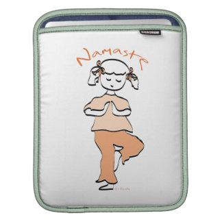 Yoga Namaste Young Girl Sleeves For iPads