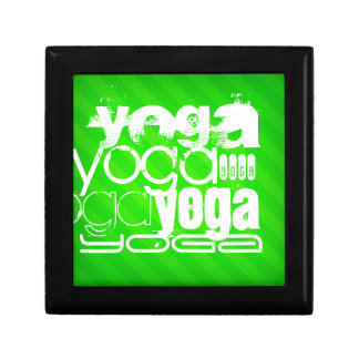 Yoga; Neon Green Stripes Gift Box