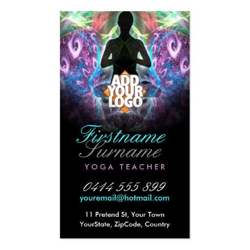 Yoga New Age Teacher School  w/ Logo Business Card