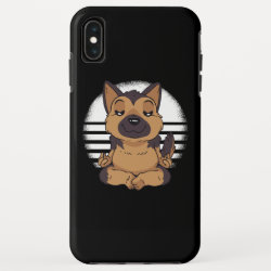 Yoga of the German shepherd iPhone XS Max Case