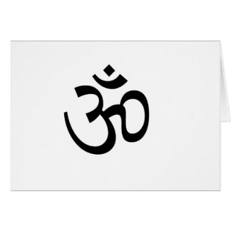 Yoga Ohm Notecard Stationery Note Card