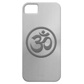Yoga Om Circle with Stainless Steel Effect iPhone SE/5/5s Case