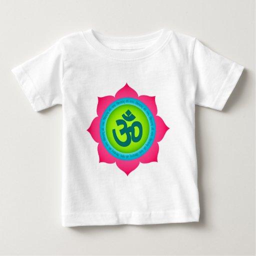 Yoga OM de la flor de Namaste Lotus Playeras