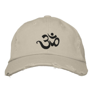 Yoga Om Embroidered Cap Embroidered Hat