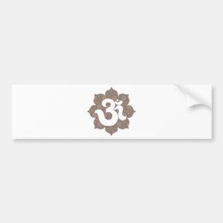 Yoga OM en el gris marrón de Lotus Pegatina Para Auto