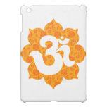 Yoga OM en el naranja de Lotus