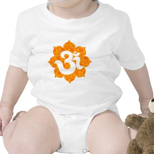 Yoga OM en el naranja de Lotus Trajes De Bebé