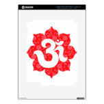 Yoga OM en el rojo de Lotus iPad 3 Pegatinas Skins