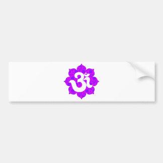Yoga OM en el rosa púrpura de Lotus Pegatina Para Auto