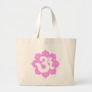 Yoga OM en los rosas bebés de Lotus Bolsa