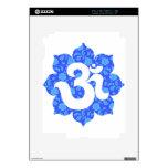 Yoga OM en Lotus azul marino Skins Para iPad 2