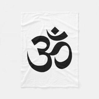 Yoga Om Fleece Blanket