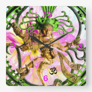 YOGA OM GOLDEN NATARAJ DECORATIVE WALL CLOCK