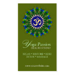 Yoga Om Green Organic New Age Business Cards