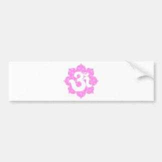 Yoga Om in Lotus baby pink Bumper Sticker