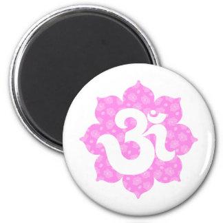 Yoga Om in Lotus baby pink Magnet
