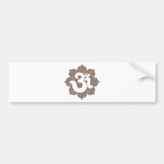 Yoga Om in Lotus brown gray Bumper Sticker
