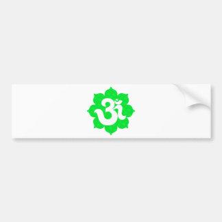 Yoga Om in Lotus green Bumper Stickers
