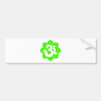 Yoga Om in Lotus green Bumper Sticker