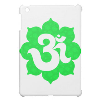 Yoga Om in Lotus green iPad Mini Cases