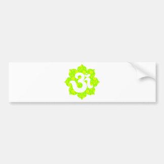 Yoga Om in Lotus green yellow Bumper Sticker