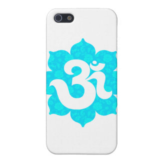 Yoga Om in Lotus light blue Cover For iPhone SE/5/5s