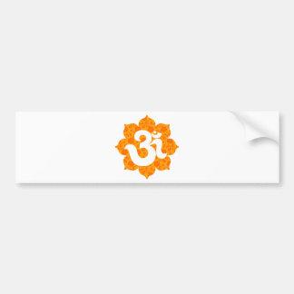 Yoga Om in Lotus orange Bumper Stickers