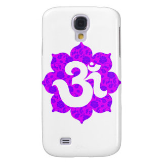 Yoga Om in Lotus purple pink Samsung Galaxy S4 Cases