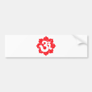 Yoga Om in Lotus Red Bumper Stickers