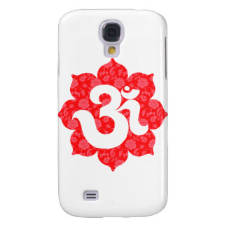 Yoga Om in Lotus Red Galaxy S4 Cases