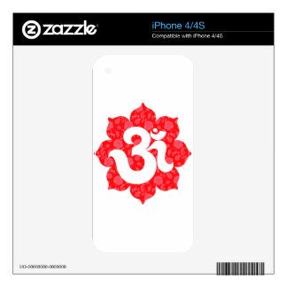 Yoga Om in Lotus Red iPhone 4 Skins