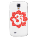 Yoga Om in Lotus red orange Samsung Galaxy S4 Cases