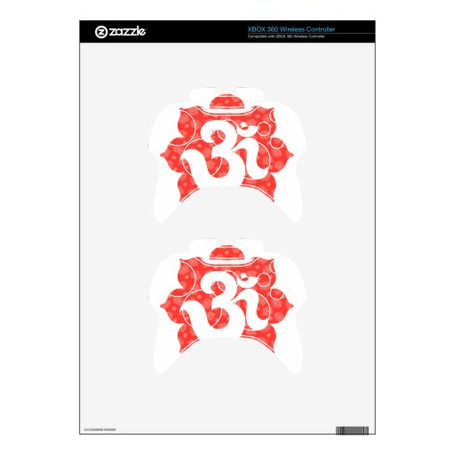 Yoga Om in Lotus red orange Xbox 360 Controller Decal