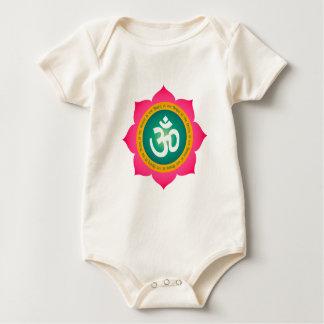 Yoga Om Namaste Lotus Baby Bodysuit