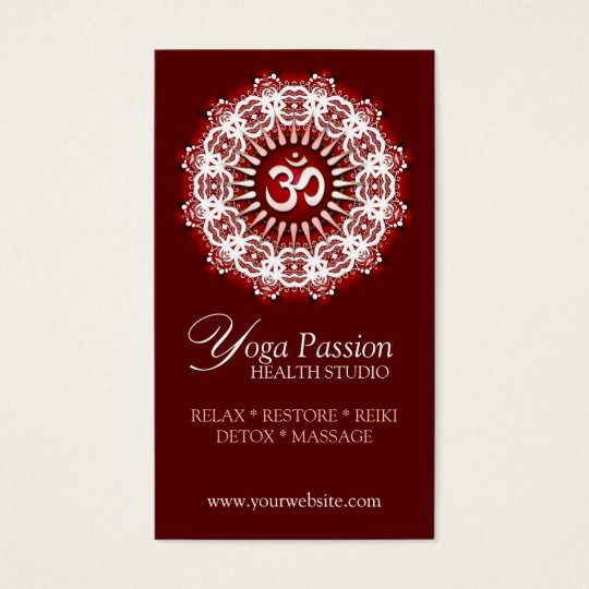Yoga Om Passion New Age Business Cards