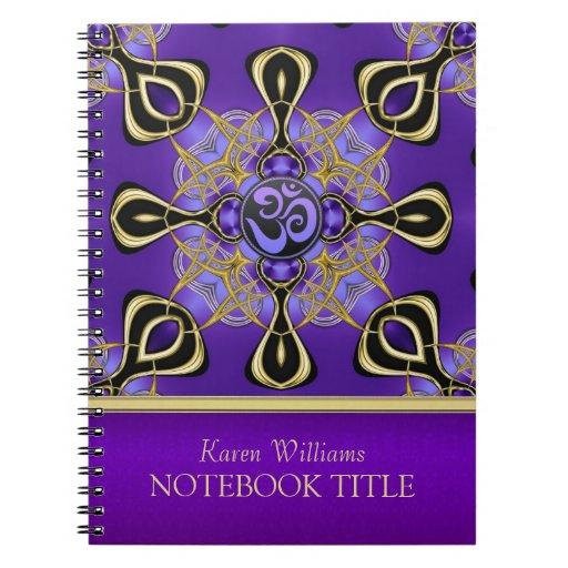 Yoga Om Purple Eastern Inspirations Notebook