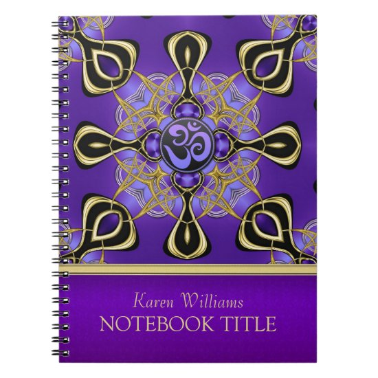 Yoga Om Purple Eastern Inspirations Notebook