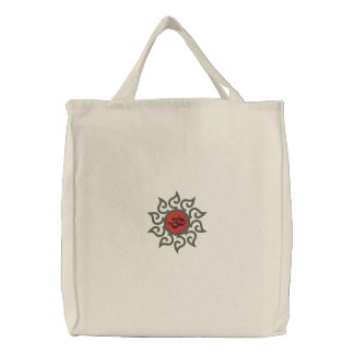 Yoga Om Symbol Embroidered Bag