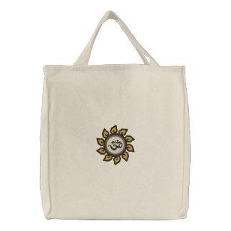 Yoga Om Symbol Embroidered Bag