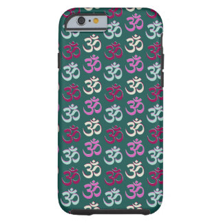 Yoga Oom Symbol Pattern Blue Green and Pink Tough iPhone 6 Case